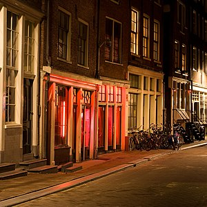 Brothels in the famous red-light district (Wallen), Amsterdam