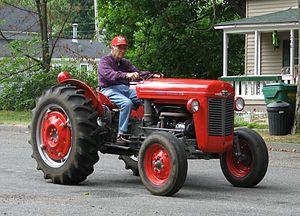 Red Massey Ferguson tractor.