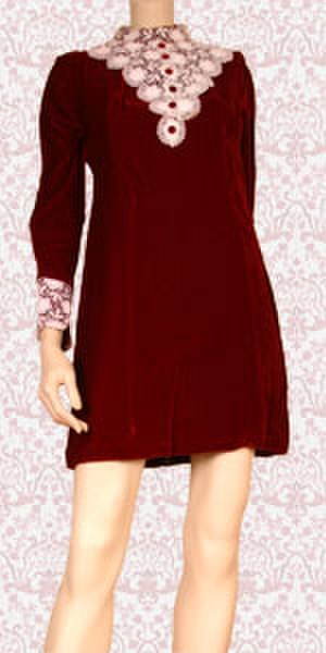 Hemline - Image: Red velvet mini dress 1435042510