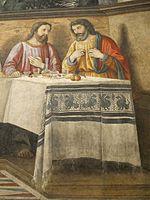 Refettorio di ognissanti, ultima cena del ghirlandaio, 1480, 08.JPG