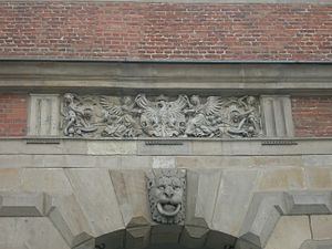 Green Gate - 16th century coat of arms of Poland