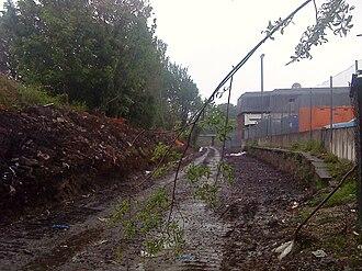 Chorlton tram stop - Image: Remains of Chorlton cum Hardy railway station