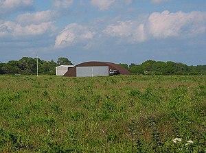 Blister hangar - Remains of Lymington Airfield, Snooks Farm