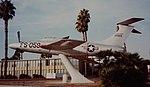 Republic XF-84H Thunderscreech Republic XF-84H, 51-17059-FS-059 on display at Bakersfield Airport, Sept 1982 (16149667959).jpg