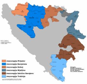 East Herzegovina - Image: Republika Srpska mezoregije