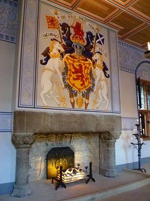 James Hamilton of Finnart - Fireplace in Stirling Palace, built for James V by James Hamilton of Finnart, (interior restored 2010)