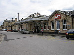 Retford railway station - The station building at Retford