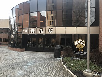 Retriever Activities Center - The entrance to the RAC in December 2017.