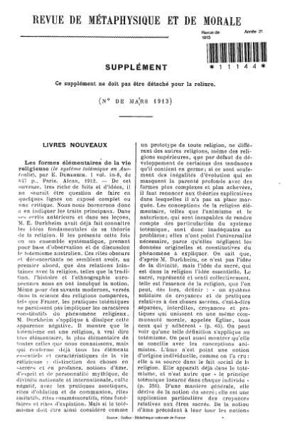File:Revue de métaphysique et de morale, supplément 2, 1913.djvu