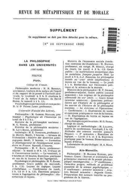 File:Revue de métaphysique et de morale, supplément 5, 1908.djvu