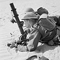 Rhodesian troops of the 60th King's Royal Rifles training with a 2-inch mortar in North Africa, 12 May 1942. E11699.jpg