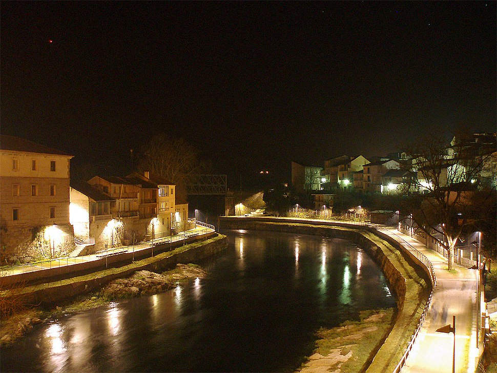 Ribadavia.Paseo fluvial nocturno
