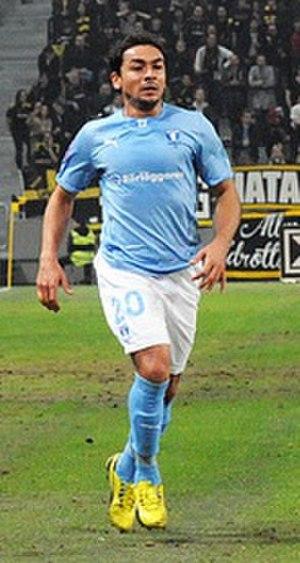 Ricardo Ferreira da Silva - Ricardinho playing for Malmö FF in 2013