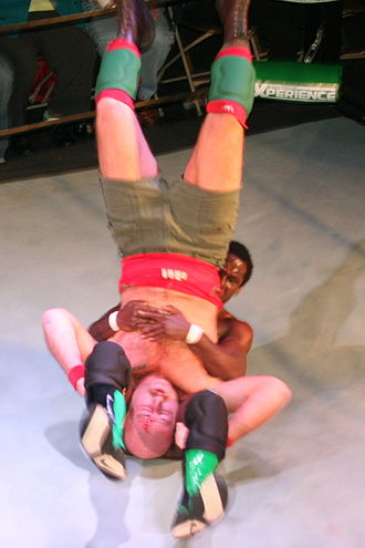 Rich Swann - Swann performing a piledriver on Jake Manning