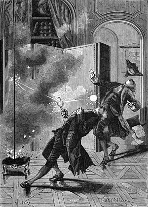 Georg Wilhelm Richmann - Richmann and his engraver during the electrocution in St. Petersburg.