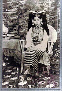 Rinchen Dolma Taring (aka Mary Tsarong) with headdress in 1921.jpg