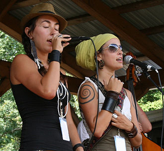 Rising Appalachia - Chloe and Leah Smith at FloydFest 2010