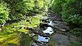 River Lugar, Mote Hill wood, Cumnock, East Ayrshire - view east.jpg