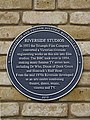 Riverside Studios plaque (Hammersmith and Fulham Historic Buildings Group).jpg
