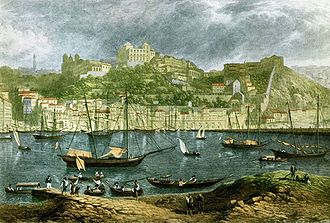 Robert Batty (artist) - 1823 view of Oporto