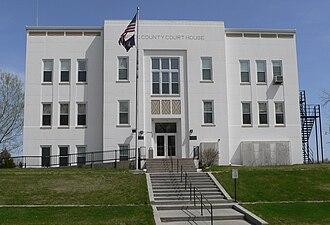 Rock County, Nebraska - Image: Rock County, Nebraska courthouse from W