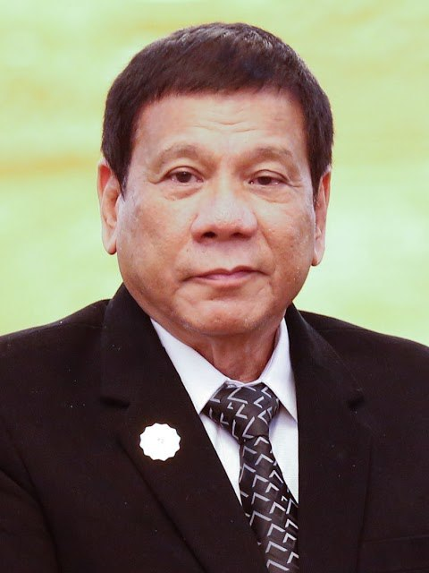 Rodrigo Duterte and Laotian President Bounnhang Vorachith (cropped)