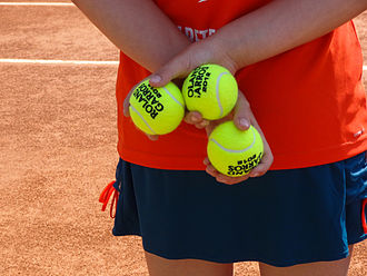 Tennis ball - Tennis balls at the 2012 French Open