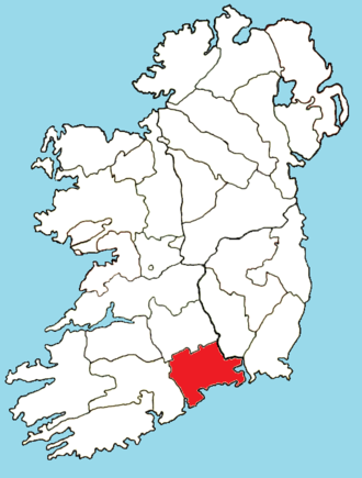 Roman Catholic Diocese of Waterford and Lismore - Image: Roman Catholic Diocese of Lismore map