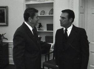 Peter F. Schabarum - visiting the Oval Office in 1982