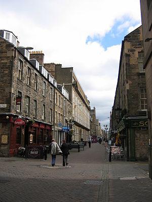 Rose Street - Rose Street in the New Town of Edinburgh