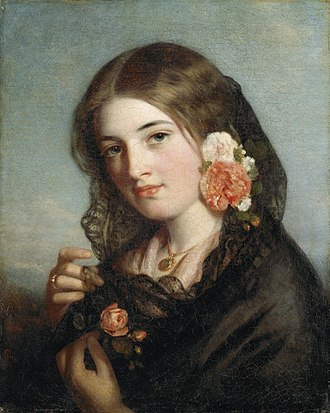 Charles Baxter (painter) - Rose of England by Charles Baxter, 1861, National Gallery of Victoria, Melbourne