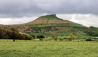 Old Norse religion - Roseberry Topping in Yorkshire, Northern England. After Scandinavian settlement in the area, the site became known by the Old Norse name Óðinsberg, meaning 'Hill of Óðin'