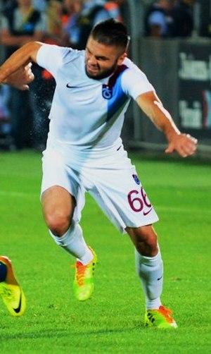 Fatih Atik - Atik playing for Trabzonspor in 2014