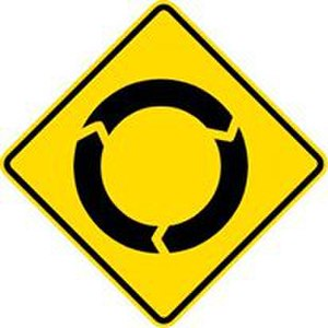 Driver location sign wikivisually comparison of mutcd influenced traffic signs image roundabout signs fandeluxe Images