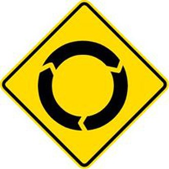 Comparison of MUTCD-influenced traffic signs - Image: Roundabout signs