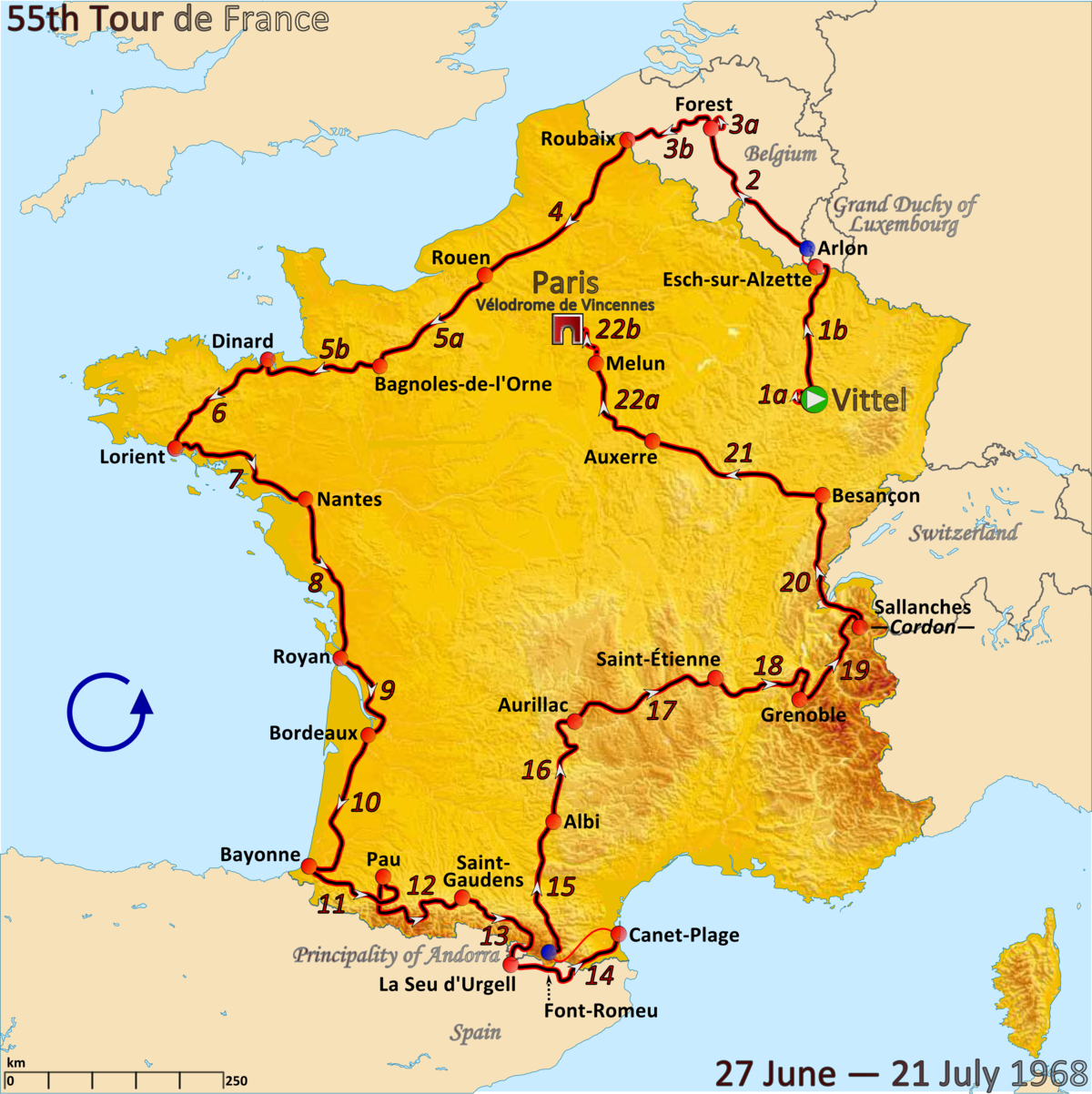 1968 tour de france wikipedia. Black Bedroom Furniture Sets. Home Design Ideas
