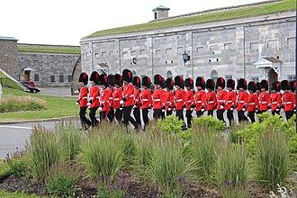 Citadel - The Royal 22nd Regiment's home garrison is the Citadelle of Quebec in Canada. The citadel is the largest still in military operation in North America.