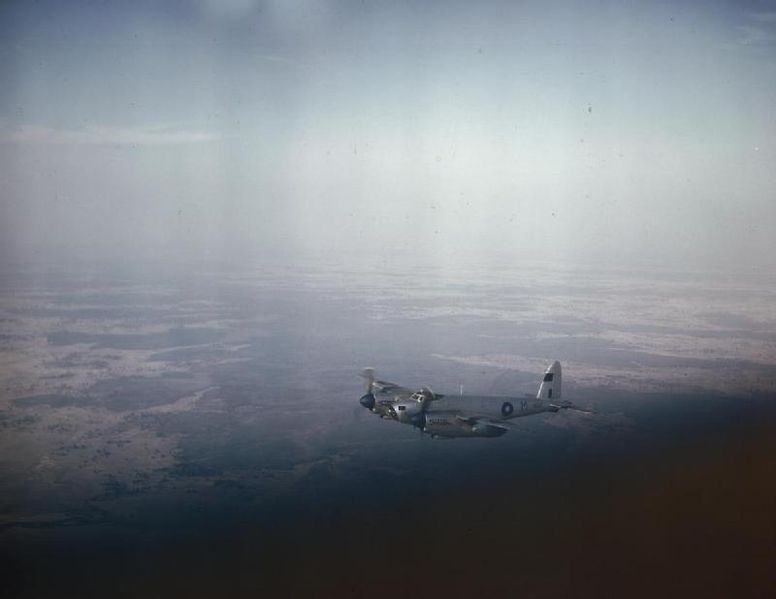 File:Royal Air Force Photographic Reconnaissance Mosquito in Flight Over Bengal, March 1945 TR2788.jpg