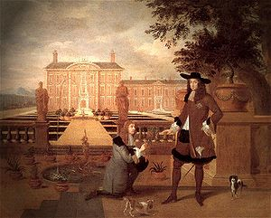 Gardener - Hendrick Danckerts, Royal Gardener John Rose and King Charles II, 1675
