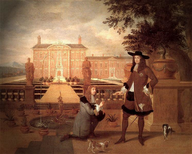 Royal Gardener John Rose and King Charles II - Hendrick Danckerts 1675.jpeg