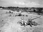 Royal Marines training with 40 mm Bofors guns at Chatham Camp, Colombo, Ceylon, September 1943. A20199.jpg