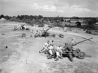 Ceylon in World War II - British anti-aircraft defences in Ceylon, 1943