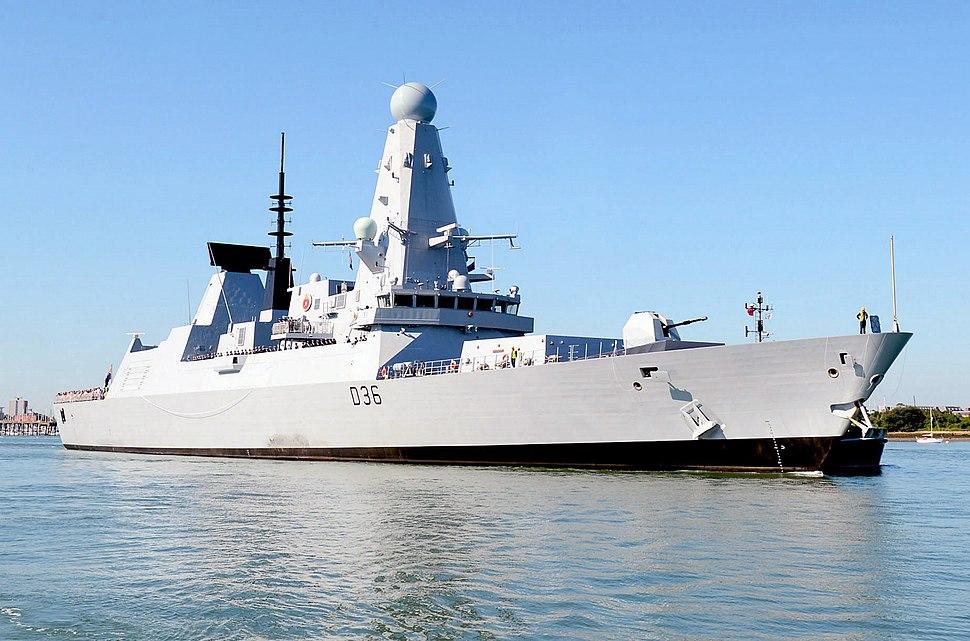 Royal Navy Destroyer HMS Defender (D36)