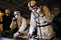 Royal Navy Staff Coordinate Firefighting Teams During an Exercise MOD 45153424.jpg