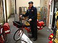 Royal mail bicycle messenger Ilminster.JPG