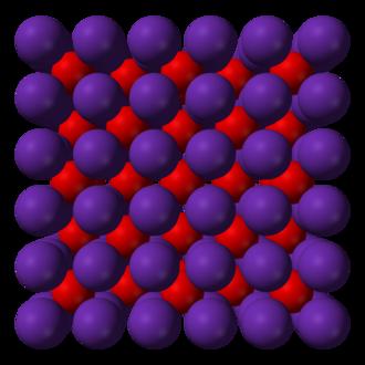 Alkali metal oxide - Crystal structure of rubidium oxide.