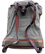 fe1eb6b650e9 Swiss army backpack c. 1960. Integrated bearer (internal) frame