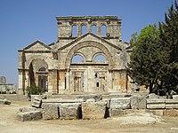 Ruiny bazyliki św. Szymona Słupnika (arab. Qala'at Samaan) leżące niedaleko Aleppo w Syrii