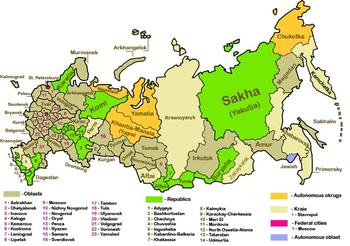 Ban Re Dei Soggetti Federali Della Federazione Russa
