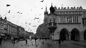 1923 Kraków riot - Main Market Square, site of mass demonstration